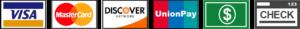 Chez Mieux Accepts Visa, MasterCard, Discover, UnionPay, Cash and Checks